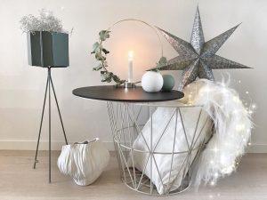 Detalles modernos de decoración en color gris