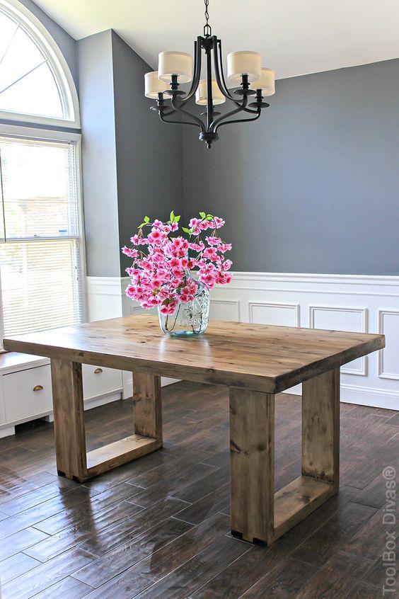 Diseños de mesas de madera rusticas