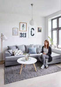 Diseños modernos de salas esquineras
