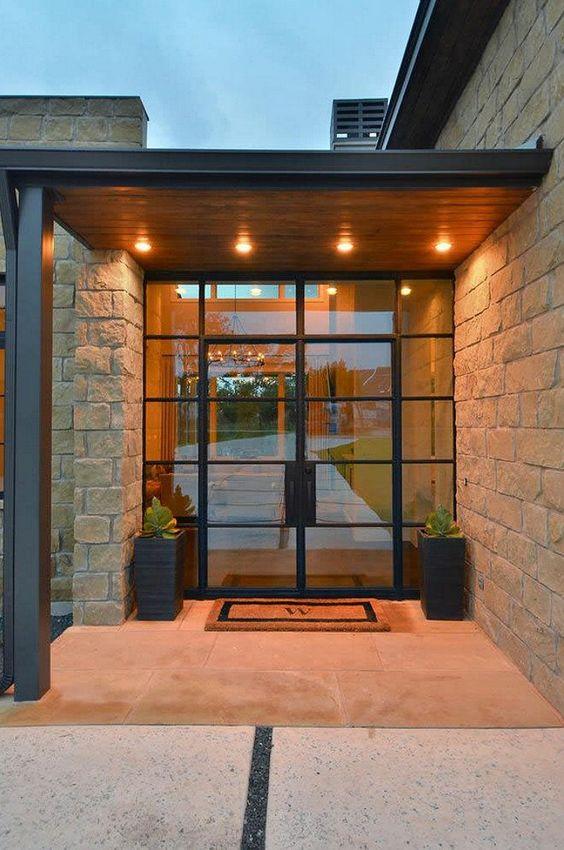 Disenos puertas frente casa 22 decoracion de for Diseno de frente de casa pequena