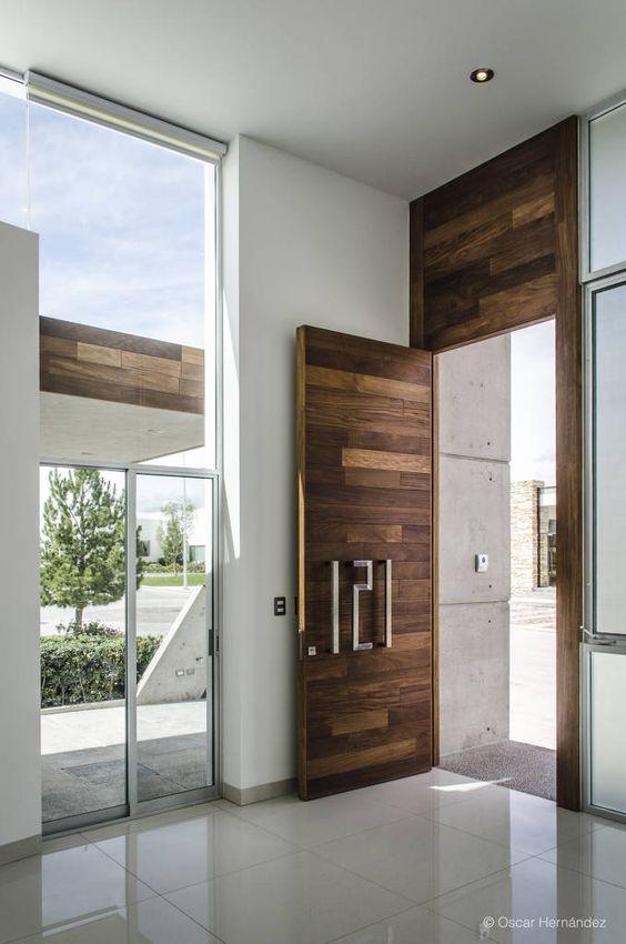 Dise os de puertas para el frente de tu casa - Puertas internas de madera ...