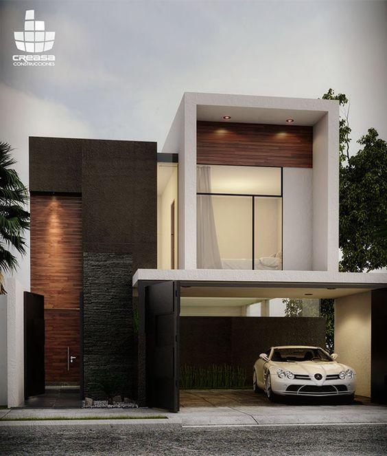 Fachadas para casas 2019 2020 como organizar la casa for Colores minimalistas para interiores