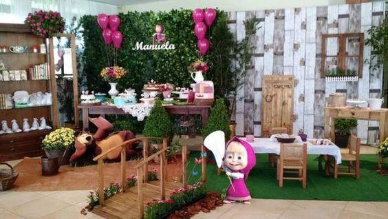 Fiesta temática para niña de Masha y el oso