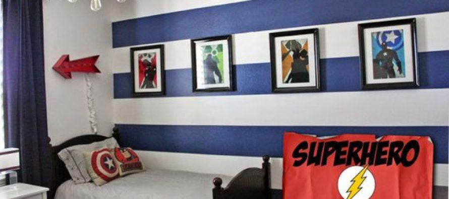 Habitaci n infantil decorada con tema super h roes curso - Organizacion habitacion infantil ...