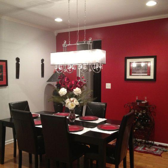 Red And Black Dining Room Ideas: Ideas-decorar-interior-casa-color-rojo (14)