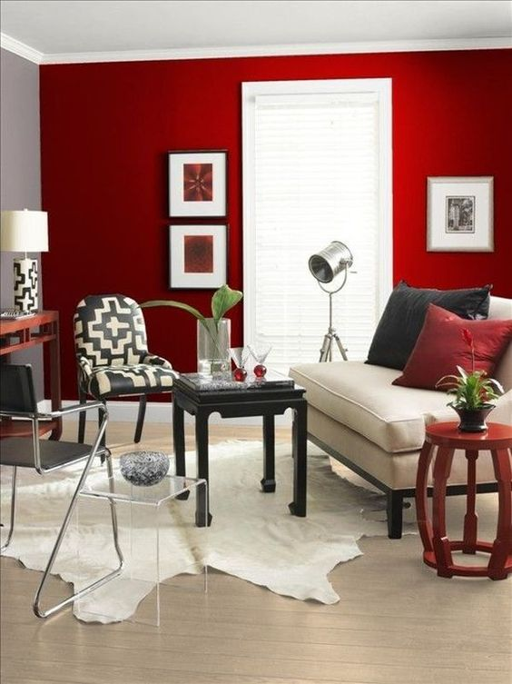 ideas decorar interior casa color rojo 20