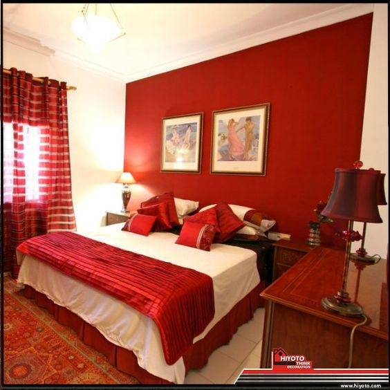 Bedroom Decor For Wedding Bedroom Color Schemes For White Furniture Lego Bedroom Accessories Uk Bedroom Paint Ideas Accent Wall Orange: Ideas Para Decorar El Interior De Tu Casa Con Color Rojo