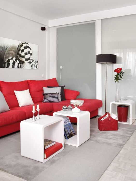 Ideas para decorar el interior de tu casa con color rojo for Decoracion de interiores color rojo