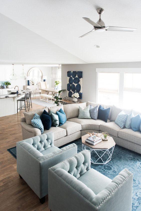 Ideas modernas decorar una sala estar 22 decoracion de for Organizar una sala de estar