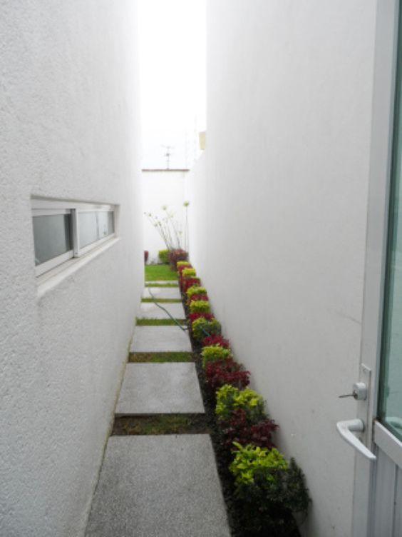Pasillos exteriores decorados