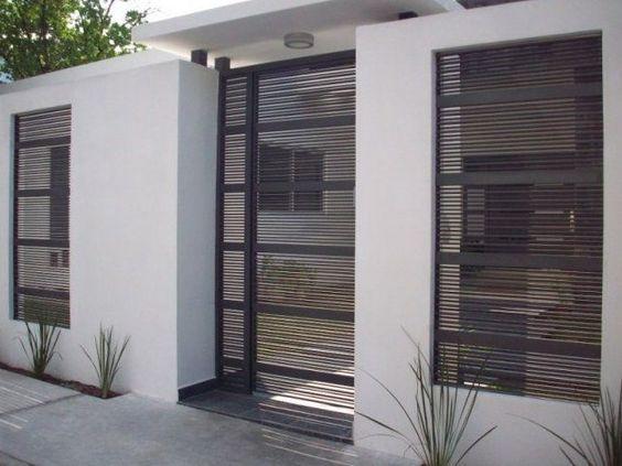 Portones herreria diseno casa 14 for Rejas para frente de casas fotos
