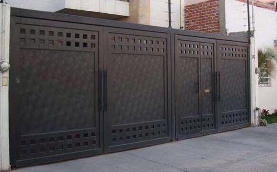 Portones herreria diseno casa 21 decoracion de for Fachadas de casas modernas con zaguan