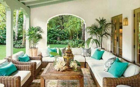 Salas para decorar terrazas 2019