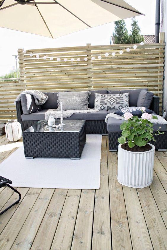 Mesas de centro para salas en la terraza