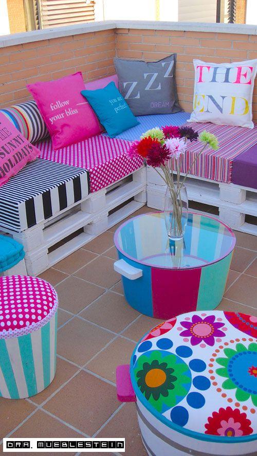 sillones de palets para decorar terrazas