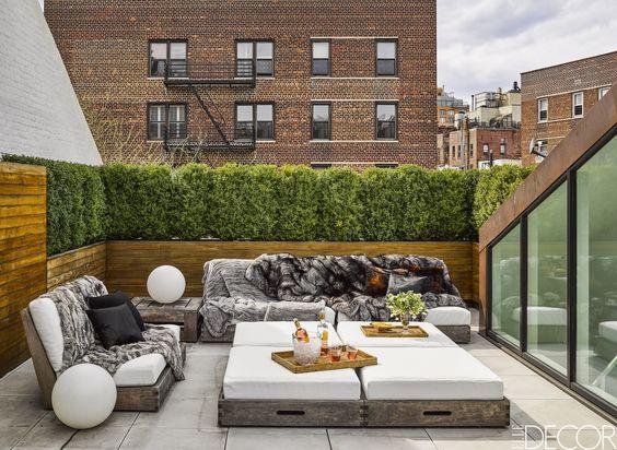 sofas de tela para decorar terrazas