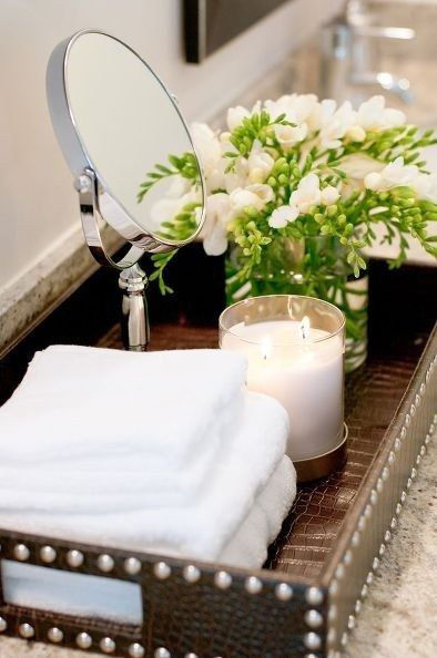 Como decorar el baño con velas