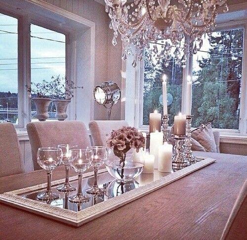 Como decorar tu comedor con velas