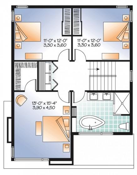 Ideas con planos para construir casas peque as de 86 m2 - Planos de casas pequenas ...