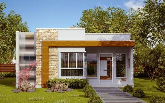 Fachadas y planos de casas peque as como organizar la for Ideas fachadas de casas pequenas
