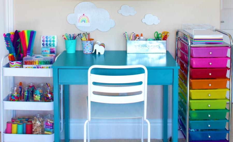 Ideas para organizar el rea de tareas escolares de los ni os en casa decoracion de interiores - Ideas para organizar tu casa ...