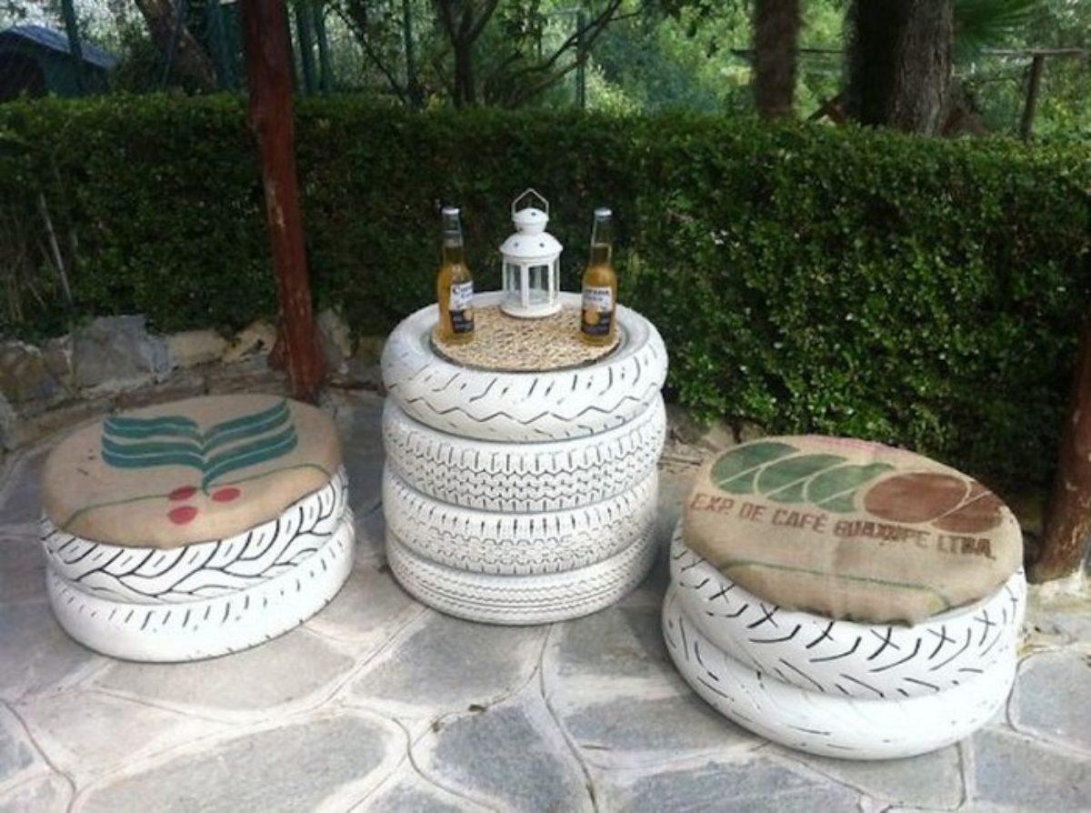 Muebles Bricolaje De Neumáticos Reciclados Que Puedes Hacer