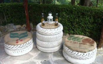 Muebles Bricolaje de Neumáticos Reciclados que puedes Hacer Tú Misma