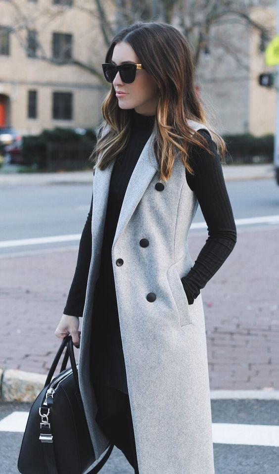 Outfits con abrigos invierno 2017-2018