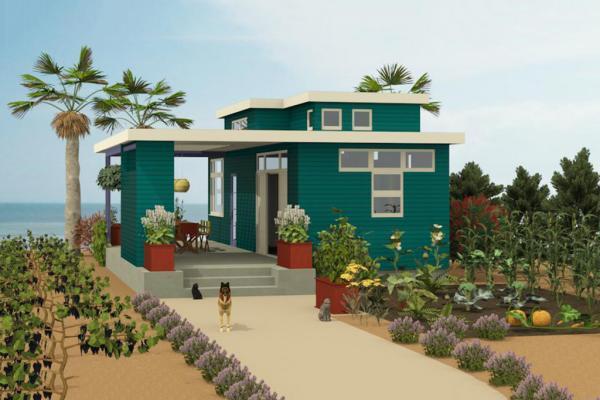 Planos y dise o para una casa peque a de campo for Disenos de casas 10x20