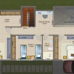 Plans for a 2-storey house of 80x20