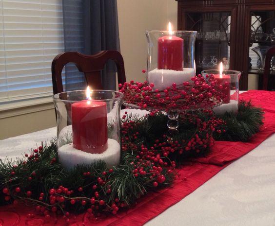 Centros De Mesa Perfectos Para Navidad 2018 2019 - Centros-de-mesa-navideos-con-velas