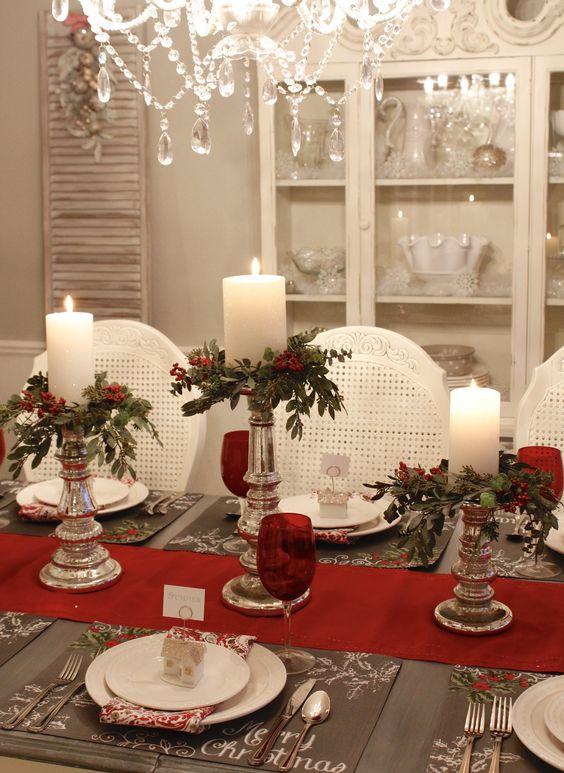 Como hacer un centro de mesa para navidad video - Preparar mesa navidad ...
