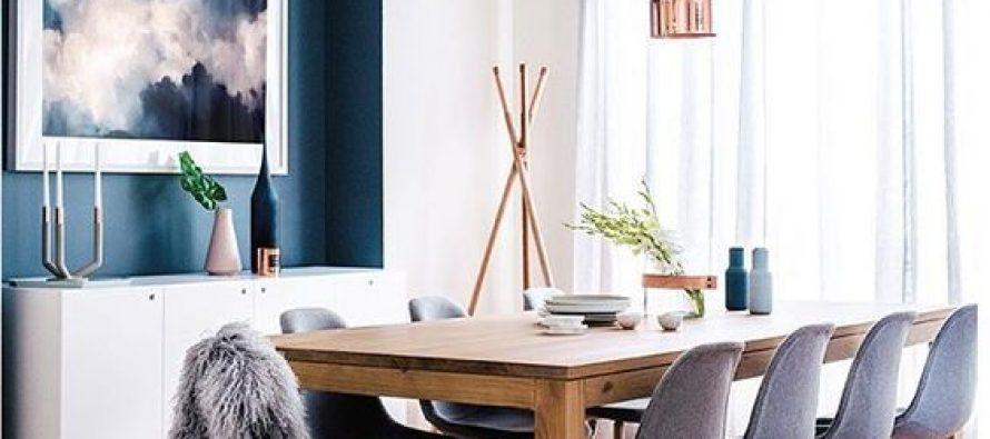 Decoración de comedores con color azul