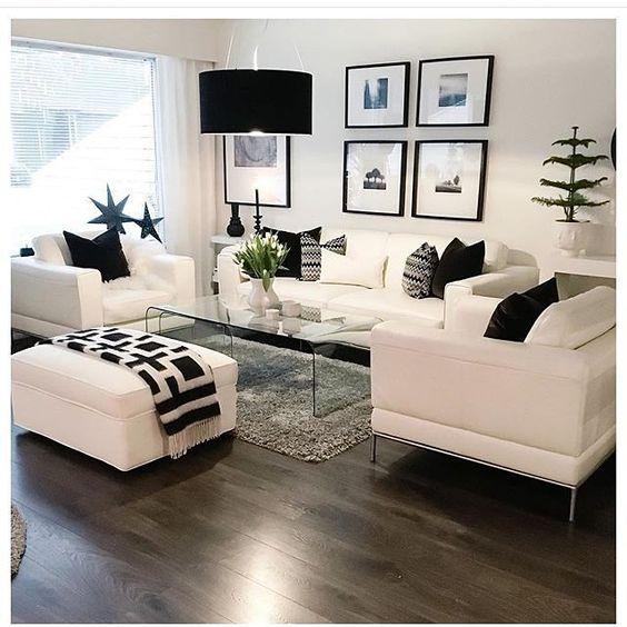 Salas color blanco y negro
