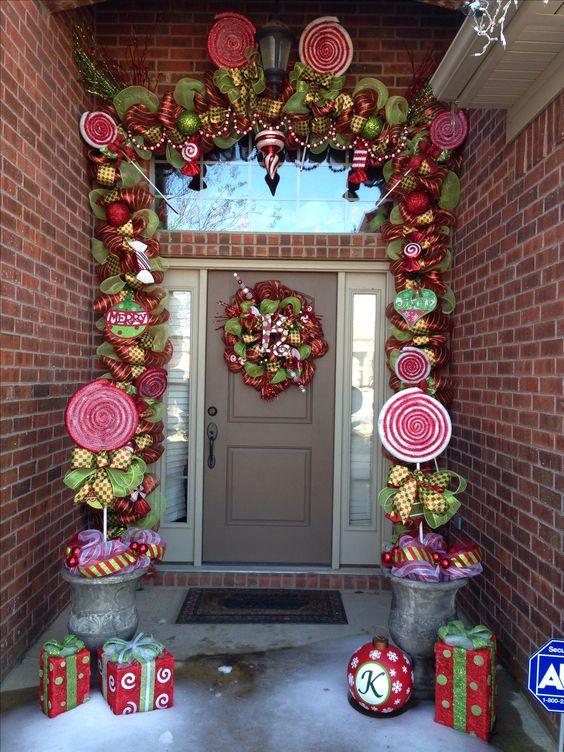 Decoraciones navidenas 2017 la puerta casa 8 for Decoracion exterior navidena