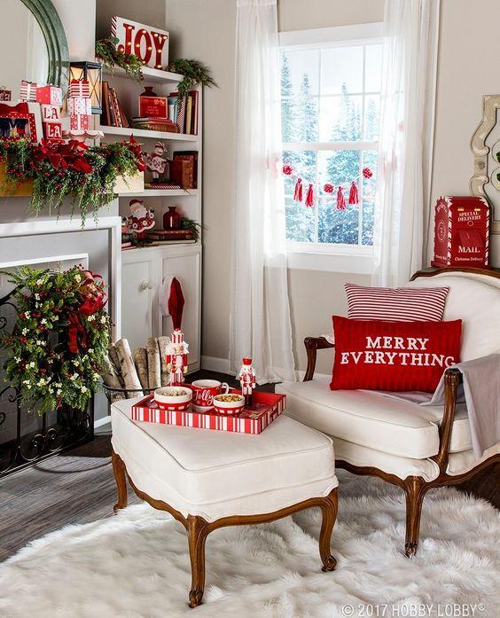 Como decorar la casa en navidad 2018 2019 decoracion for Decoraciones para navidad interiores