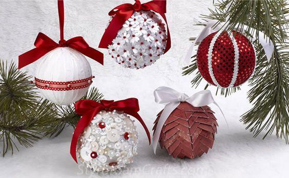 Disenos esferas navide as echas a mano decoracion de - Decoracion de navidad manualidades ...