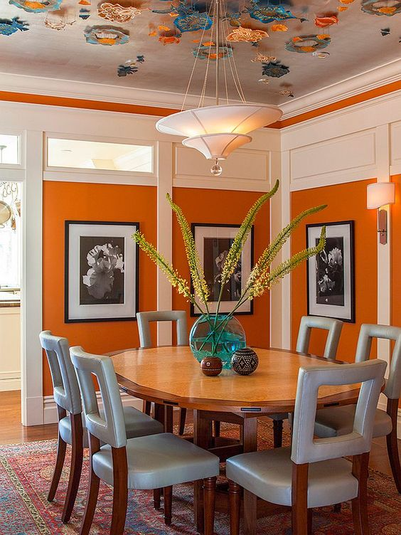 Modernas Alternativas Decorar Casa Color Naranja (21)