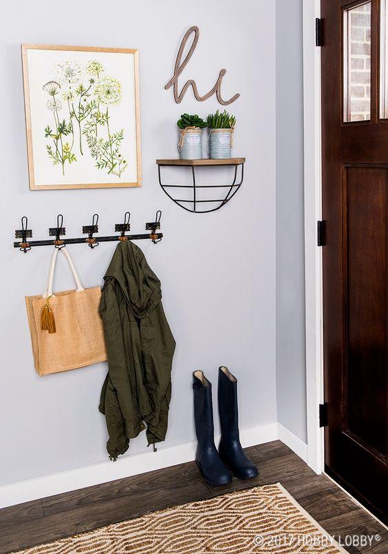 Propuestas para decorar una entrada sencilla
