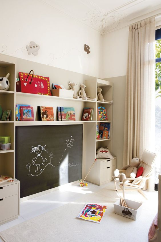 Estanterias para habitaciones infantiles modernas for Estanteria pared infantil