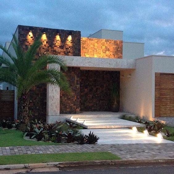 Fachadas y dise os de casas 2017 2018 for Design moderno casa contemporanea con planimetria