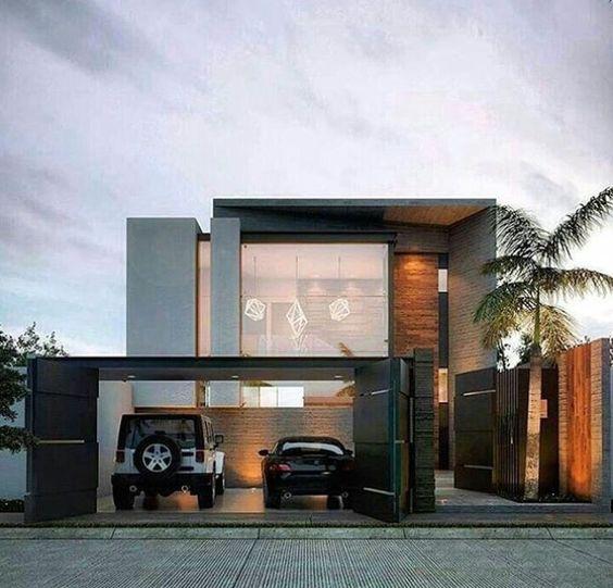 Fachada de casa sencilla con detalle en piedra (6)