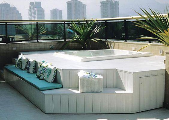 Ideas Para Anadir Tina De Hidromasaje En El Exterior De Tu Hogar - Jacuzzi-exterior-terraza