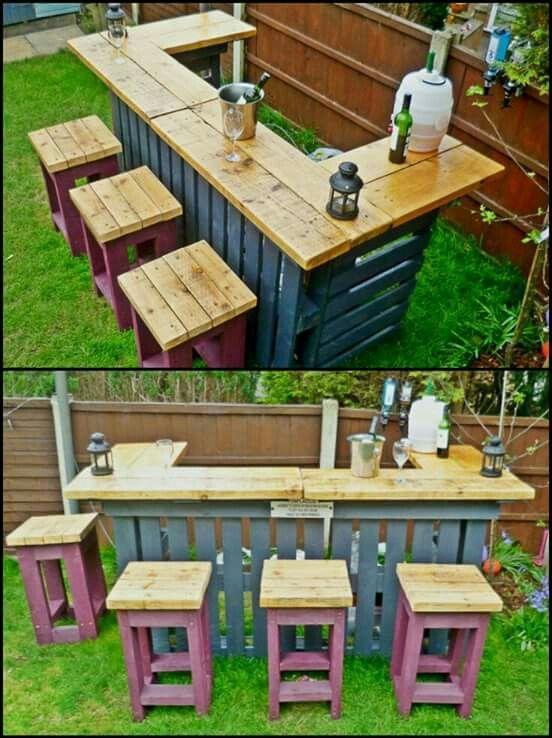 Muebles diy para terrazas