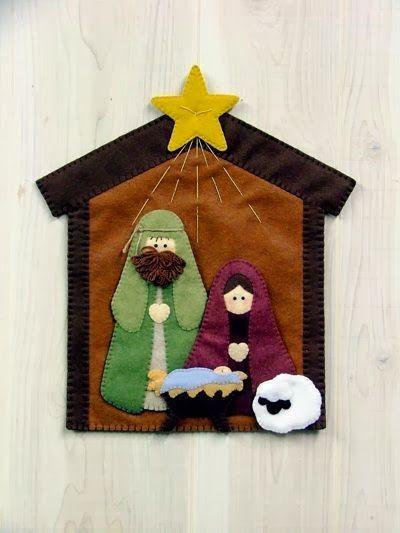 DIY Árboles de navidad y nacimientos de fieltro
