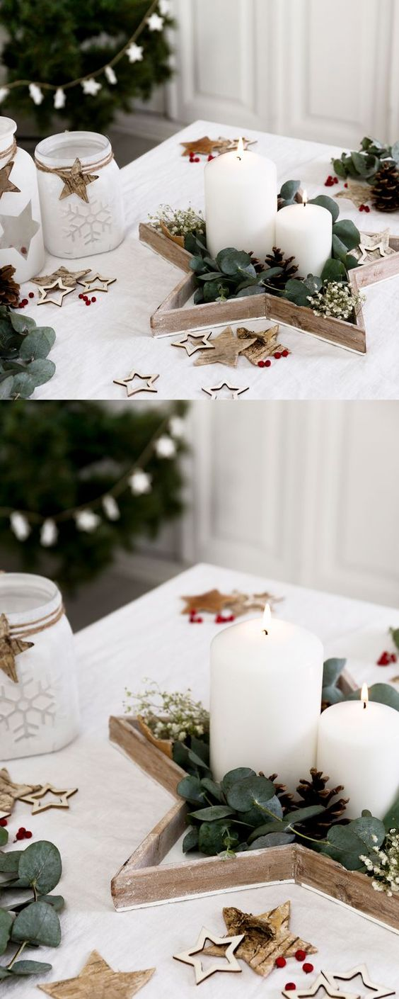 Accesorios decorativos para mesas navideñas