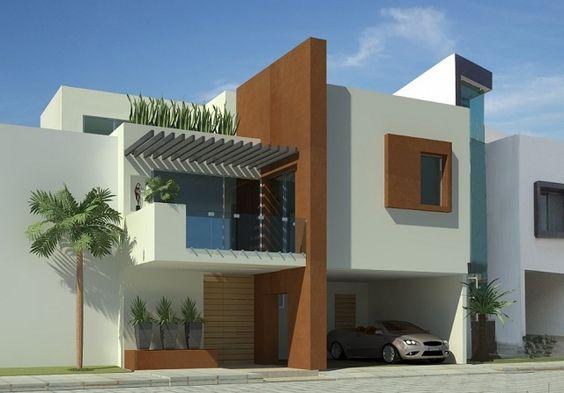 Balcones para casas 2 decoracion de interiores for Fachadas exteriores de casas modernas