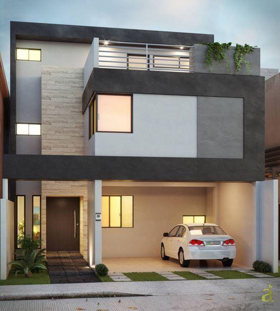 casas en gris y blanco