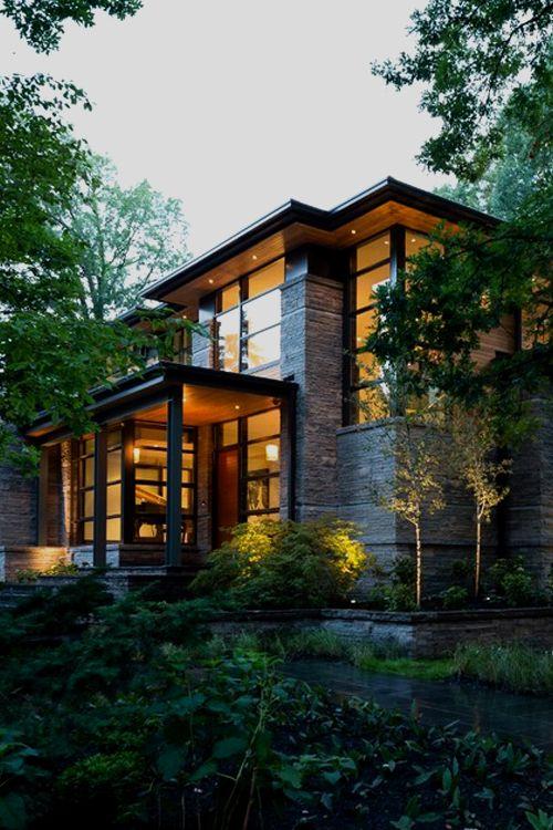 casas modernas en el bosque