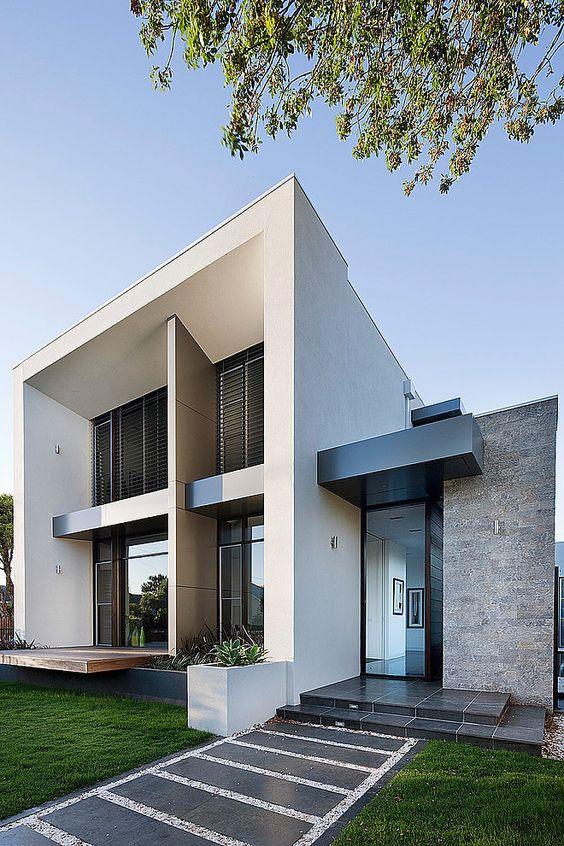 Color gris para la fachada de una casa 2 decoracion de interiores fachadas para casas como - Fachada de una casa ...